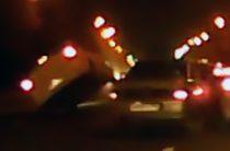 В интернете появилось видео столкновения трех автомобилей на Ершова