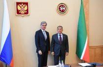 Президент «Сименс АГ» Джо Кэзер в Казани встретился с Рустамом Миннихановым
