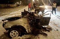 В Стерлитамаке легковушку разорвало пополам, водитель погиб