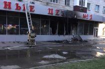 В Казани горел магазин «Смешные цены» на улице Карбышева