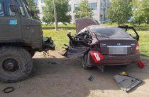 В Башкортостане столкнулись «Приора» и грузовик, водитель «Лады» погиб