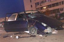 В Челнах водитель на «Ладе» подлетел на бордюре и переломал себе ноги
