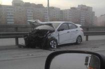 В Уфе водитель цементовоза врезался в Hyundai Solaris