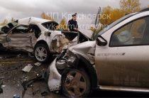 Три человека пострадали в жестком ДТП под Красноярском