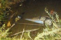 В Оренбургской области иномарка опрокинулась в кювет с водой, погибли два человека