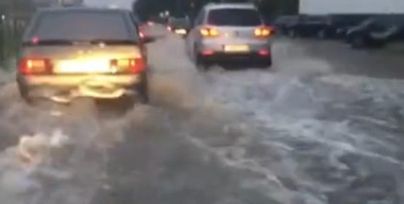 Казань снова затопило после дождя