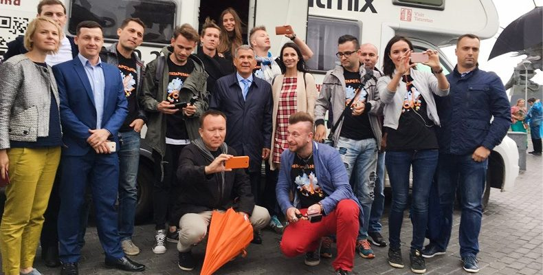 Встреча Рустама Минниханова с участниками блог-тура #втатарстанеОК