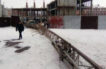 В центре Казани рухнул строительный кран (Фото)