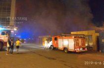В Казани горит Приволжский рынок (Видео)