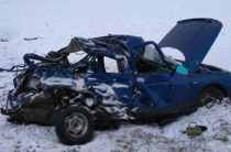 В Башкирии на трассе водитель «Лады» погиб, столкнувшись с КАМАЗом