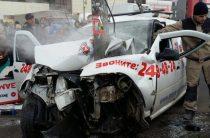 Смертельное ДТП в Казани: водитель «Ларгуса» на большой скорости срезался в столб