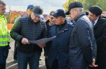 Рустам Минниханов побывал на месте работ переустройству автодороги на Кул Гали