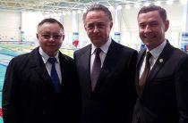 Виталий Мутко и Рустам Минниханов открыли новый бассейн в Казани