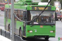 Из-за сломавшегося троллейбус на Фучика образовалась пробка