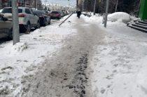 Ходить по тротуарам в Казани все сложнее