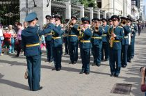 Военные оркестры Росгвардии принимают участие в фестивале духовых оркестров «Фанфары Казани» 2018