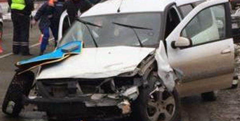 В Башкирии при столкновении трех автомобилей пострадали 8 человек