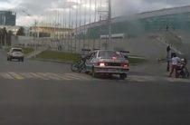 В Уфе водитель на «Ладе» сбил велосипедистку на пешеходном переходе