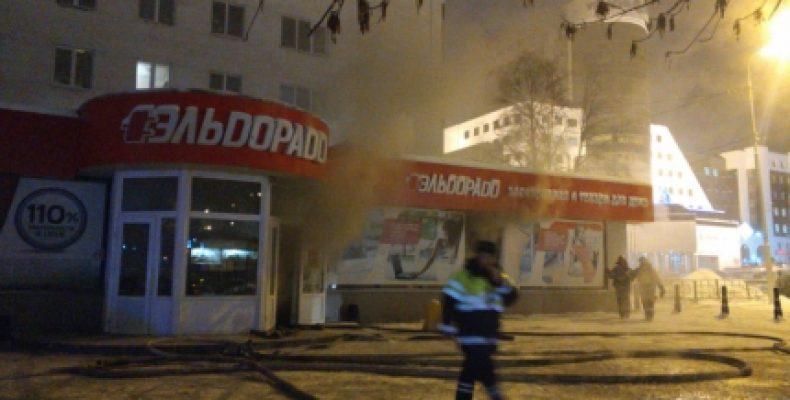 В Уфе горел склад магазина «Эльдорадо»