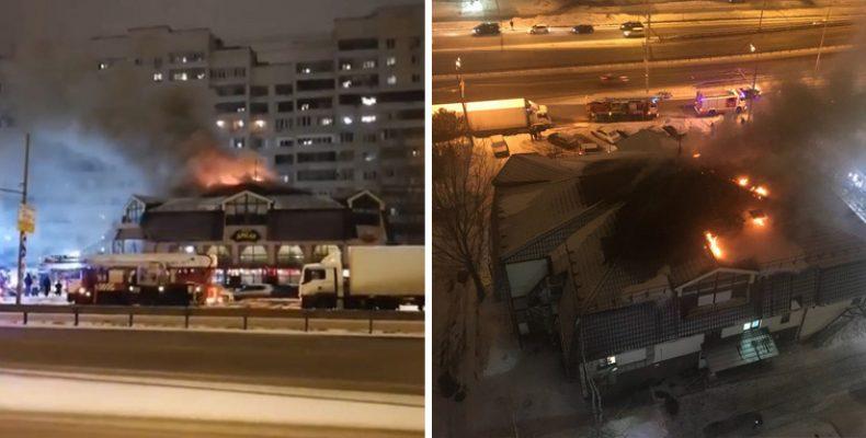 В Казани горел ресторан «Старый амбар»