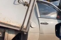 В Татарстане на трассе фургон «Лада Гранта» залетел под грузовик