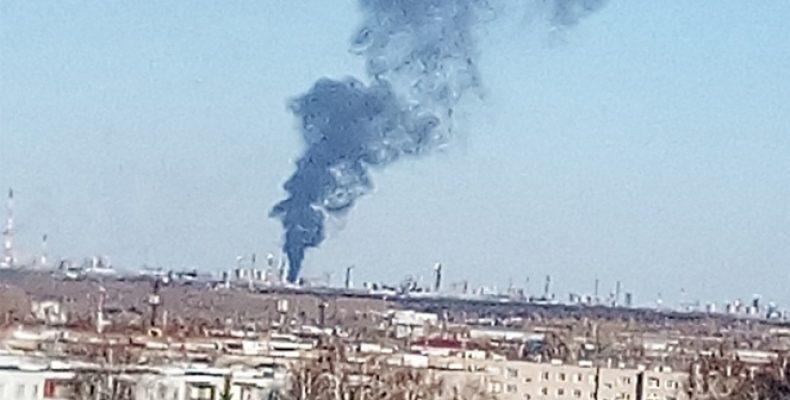В Нижнекамске в промзоне произошел пожар, пострадали 17 человек