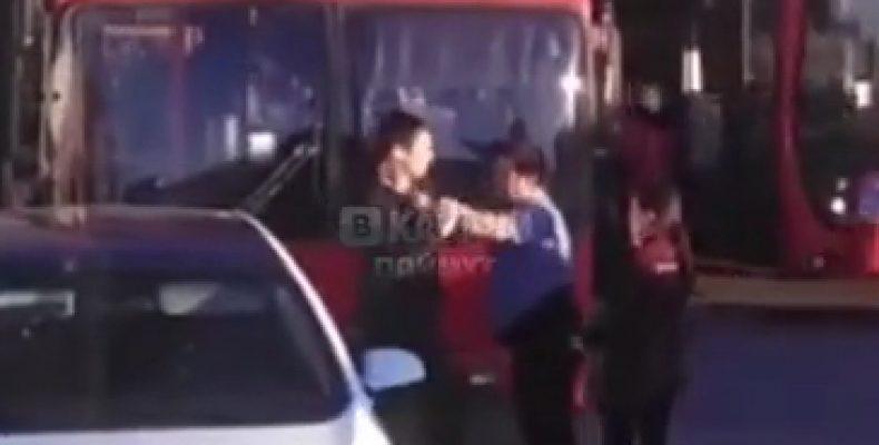 В Казани на остановке подрались водители иномарки и автобуса 49-го маршрута