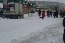 В Казани дороги и тротуары завалило снегом, МЧС в режиме повышенной готовности