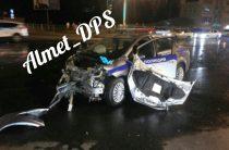 В Татарстане столкнулись «Рено» и патрульный автомобиль
