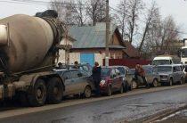 В Ижевске бетономешалка устроила массовое ДТП